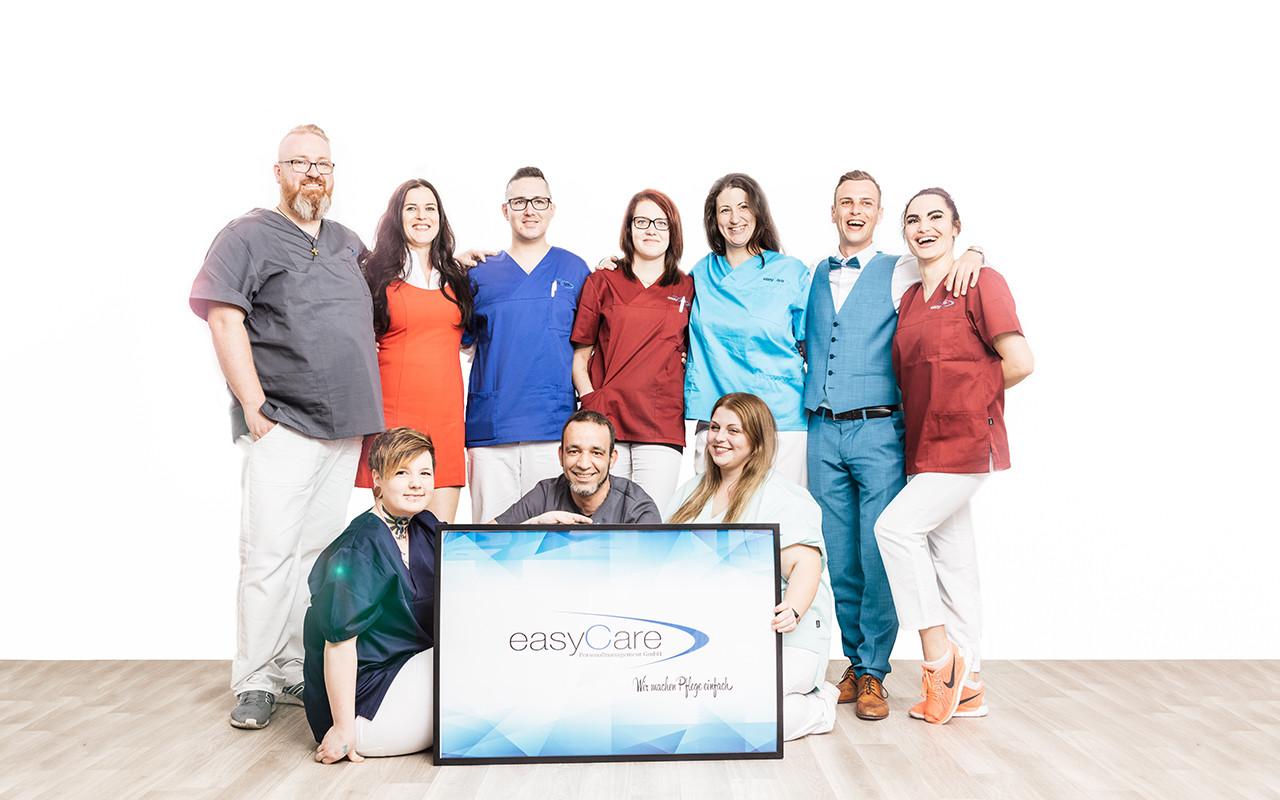 Teamfoto easycare Personaldienstleister