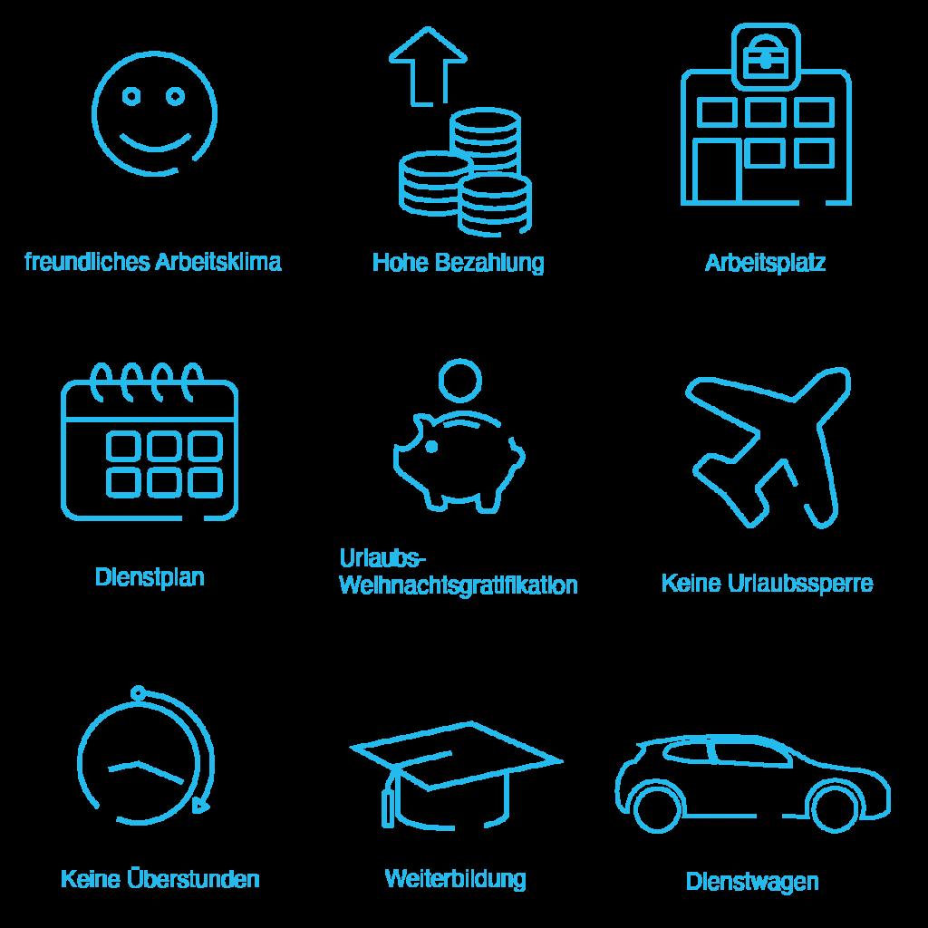 easyCare Icons blau